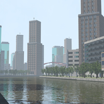 Polygon City, Low Poly for Poser image 5