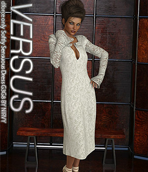 VERSUS - dforce only Softly Sensuous Dress G3G8 3D Figure Assets Anagord