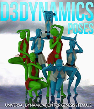 D3Dynamics Poses Volume 1 3D Figure Assets Disciple3d