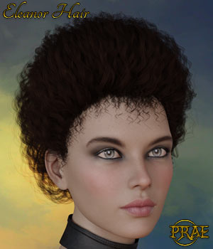 Prae-Eleanor Hair G3/G8 Daz 3D Figure Assets prae
