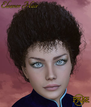 Prae-Eleanor Hair For V4 and La Femme 3D Figure Assets prae
