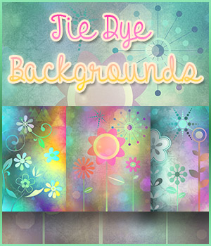 Tie-Dye Backgrounds 2D Graphics antje