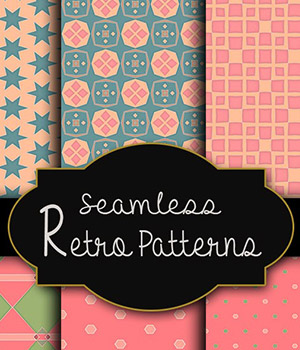 MR-Seamless Retro Patterns 2D Graphics Merchant Resources antje