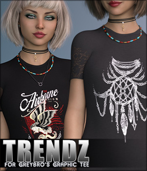 Trendz for Greybro's Graphic Tee G8F 3D Figure Assets Sveva