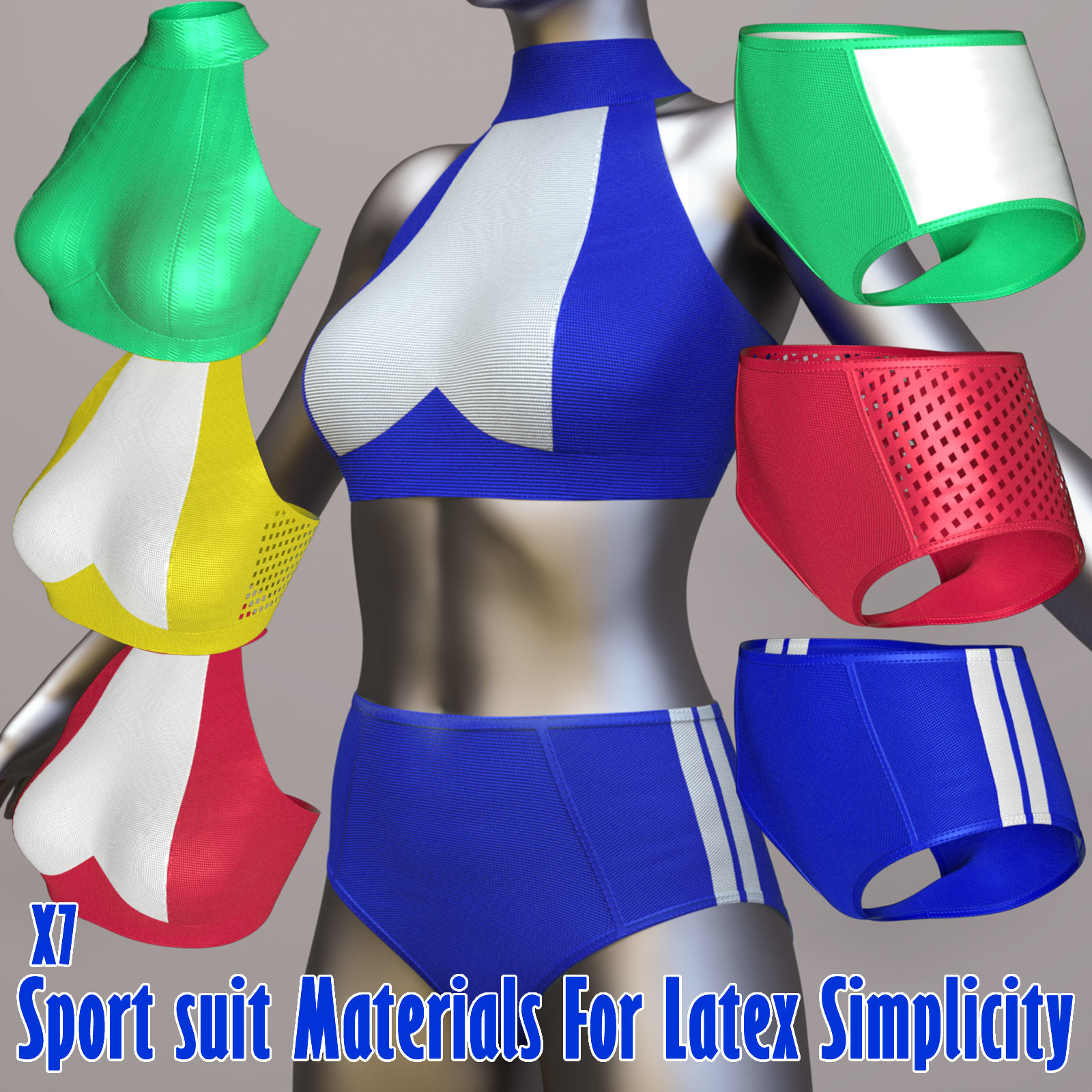 x7 Sport suit Materials For Latex Simplicity