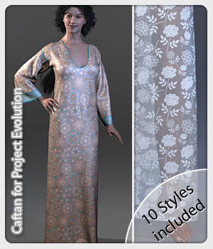 Caftan and 10 Styles for PE 3D Figure Assets karanta
