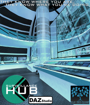 Surveillance Hub for Daz Studio 3D Models BlueTreeStudio