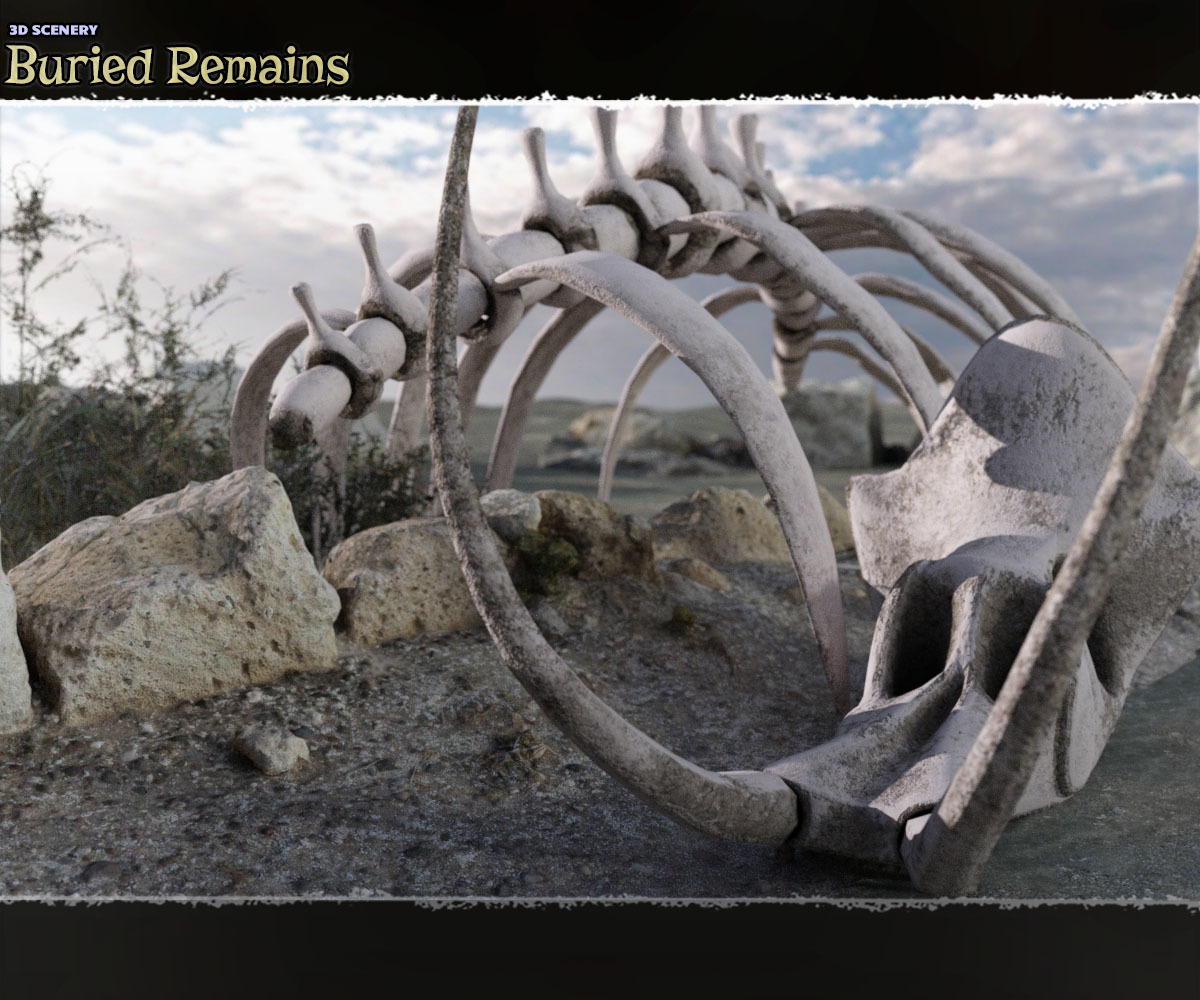 3D Scenery: Buried Remains by ShaaraMuse3D