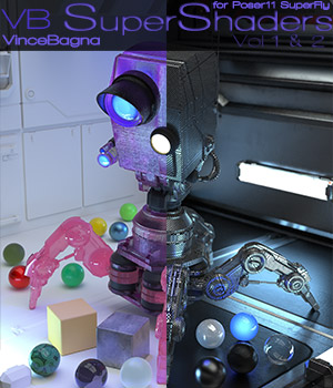 VB SuperShaders for Poser11 SuperFly Bundle 3D Figure Assets vincebagna