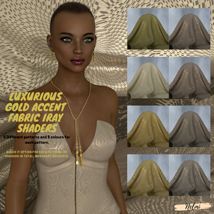 Luxurious Gold Accent Fabric Iray Shaders image 1