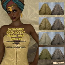 Luxurious Gold Accent Fabric Iray Shaders image 2