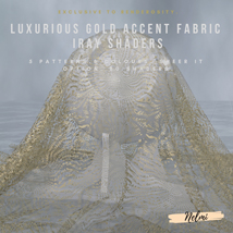 Luxurious Gold Accent Fabric Iray Shaders image 6