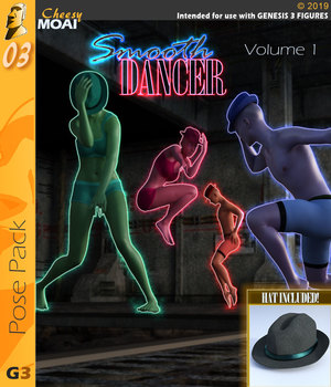 Smooth Dancer v01 : By CheesyMoai for G3F & G3M 3D Figure Assets CheesyMoai