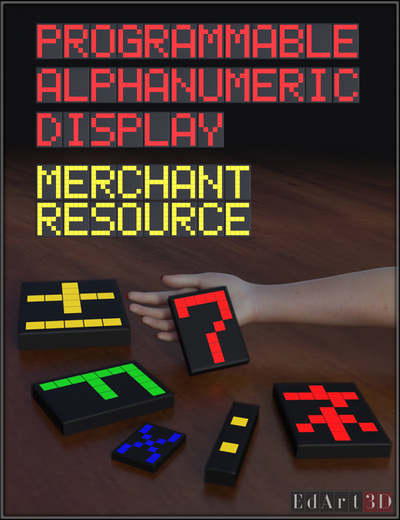 Programmable Alphanumeric Display  an MR  by EdArt3D
