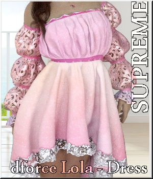 Supreme- dforce Lola Dress 3D Figure Assets LUNA3D