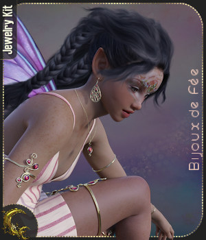 Bijoux de Fee - Jewels for G8 - DAZ 3D Figure Assets Cyriona