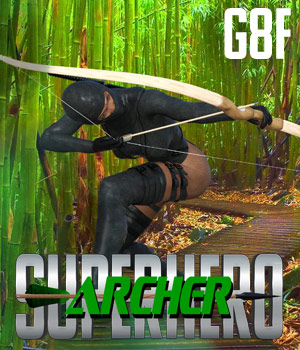 SuperHero Archer for G8F Volume 1 3D Figure Assets GriffinFX