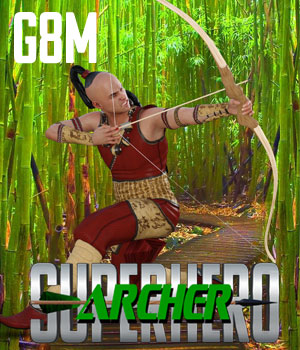 SuperHero Archer for G8M Volume 1 3D Figure Assets GriffinFX