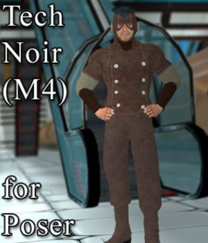 Tech Noir M4 for Poser 3D Figure Assets VanishingPoint