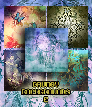 Grungy Backgrounds 2 2D Graphics antje