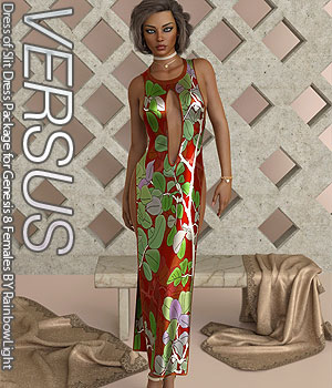 VERSUS - Dress of Slit Dress Package for Genesis 8 Females 3D Figure Assets Anagord
