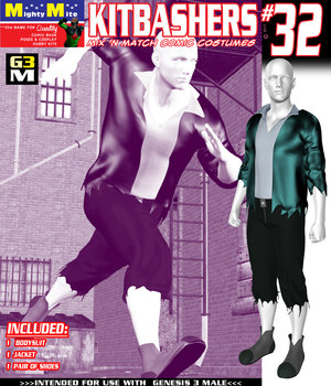 Kitbashers 032 MMG3M 3D Figure Assets MightyMite