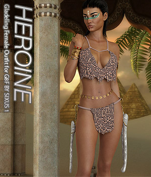 HEROINE - Gladeling Female Outfit for G8F 3D Figure Assets Anagord