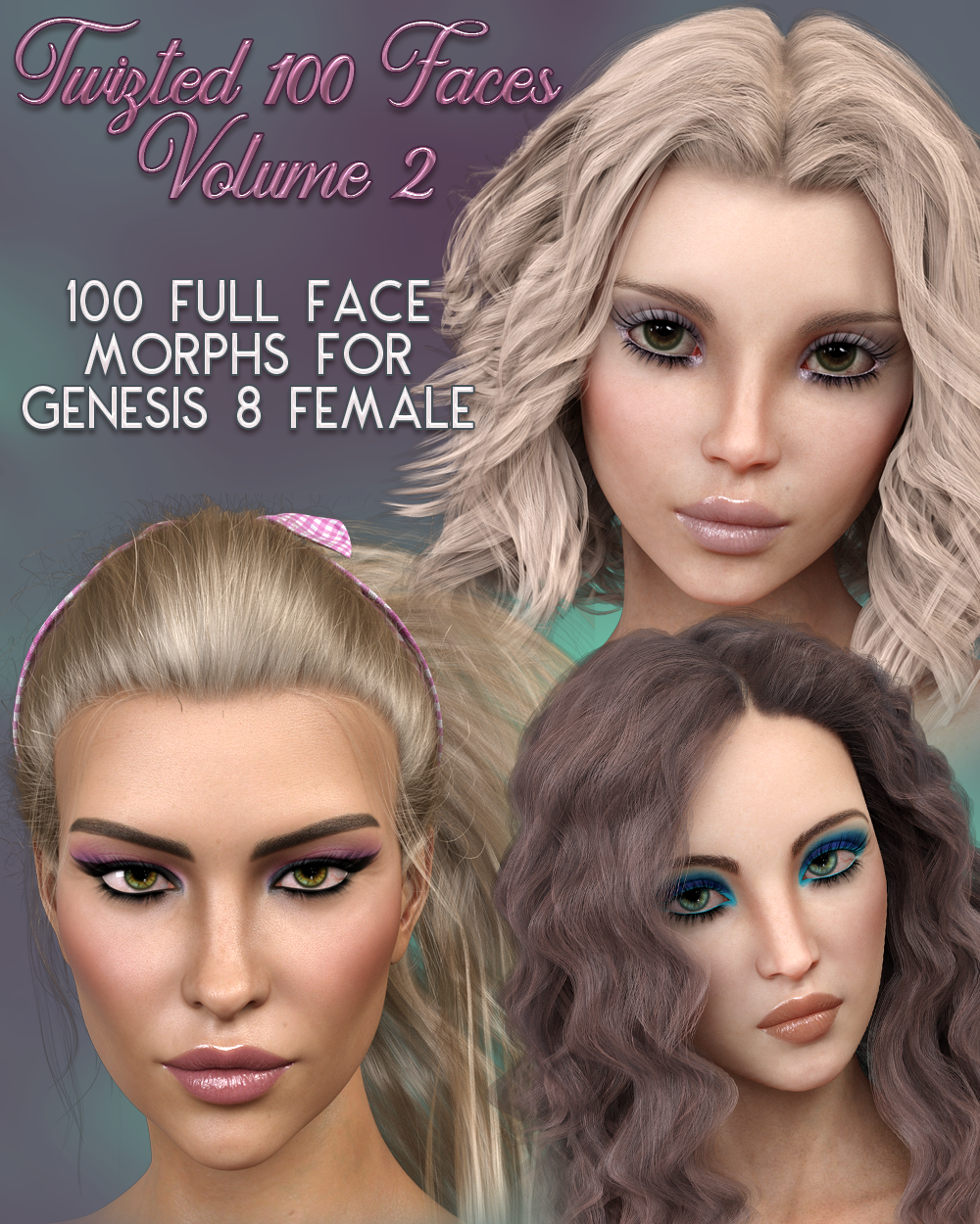 Twizted 100 Faces Volume 2 for Genesis 8 Female by TwiztedMetal