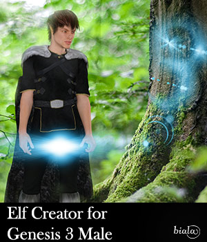 Elf Creator for Genesis 3 Male 3D Figure Assets biala