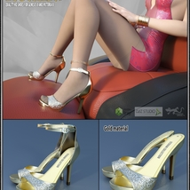 Lysithea Shoes - for Genesis 8 and Victoria 8 image 1