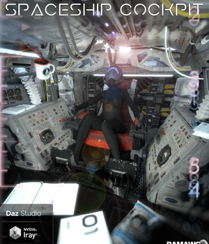 Spaceship Cockpit For DS 3D Models pamawo