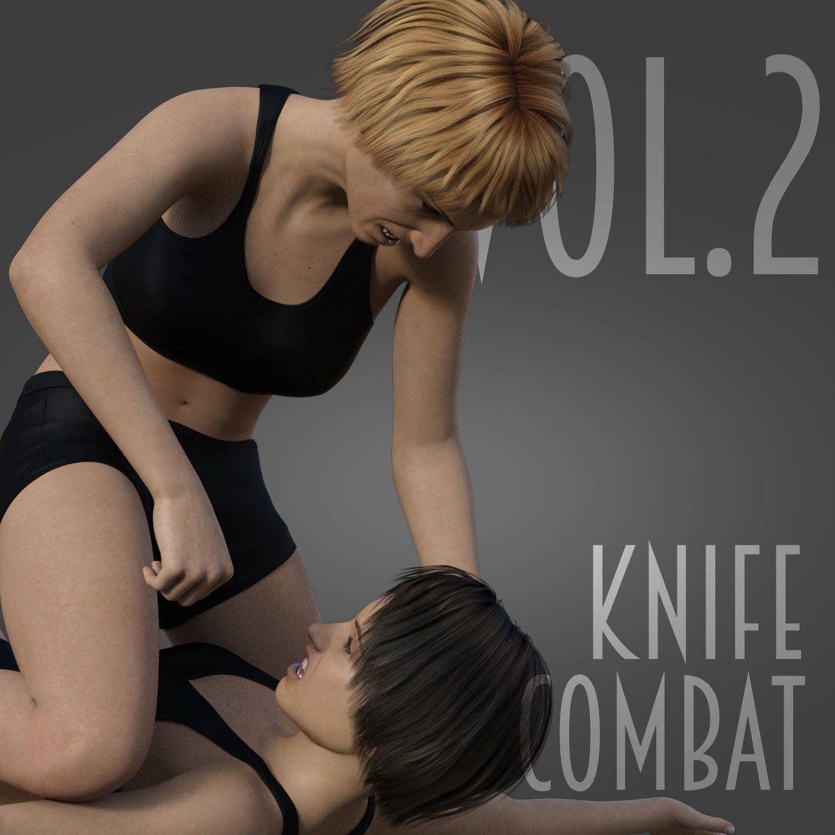 Knife Combat vol.2 for Genesis 8 Female by PainMD