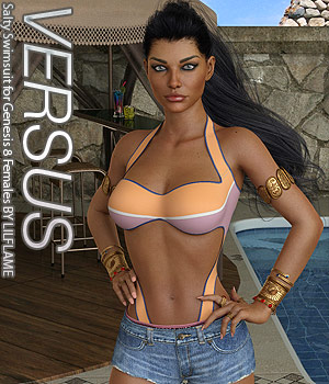 VERSUS - Salty Swimsuit for Genesis 8 Females 3D Figure Assets Anagord