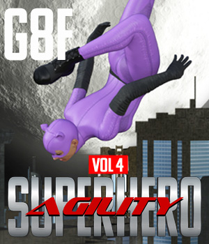 SuperHero Agility for G8F Volume 4 3D Figure Assets GriffinFX