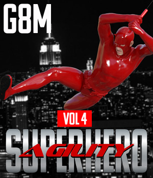SuperHero Agility for G8M Volume 4 3D Figure Assets GriffinFX