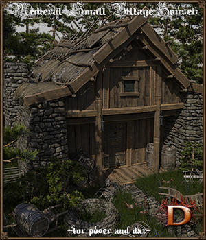 Medieval Small Village House 6 3D Models Dante78