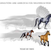 Animations for Millennium Horse - Poser and Daz Studio image 1