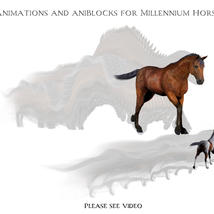Animations for Millennium Horse - Poser and Daz Studio image 2