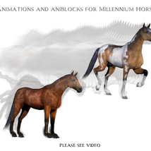Animations for Millennium Horse - Poser and Daz Studio image 3