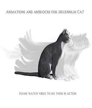 Animations for Millennium Cat - Poser and Daz Studio 3D Figure Assets anniemation