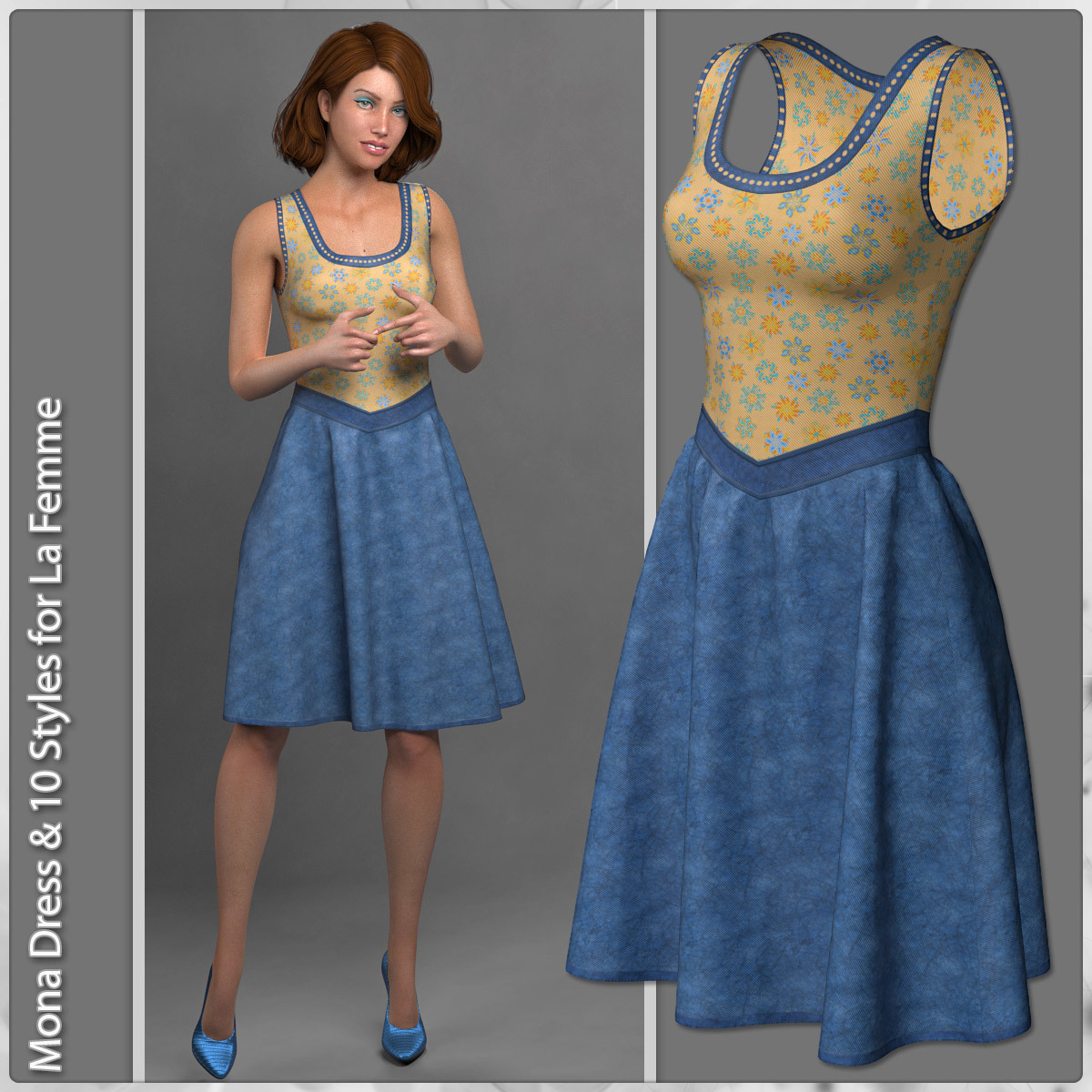 Mona Dress and 10 Styles for La Femme by karanta