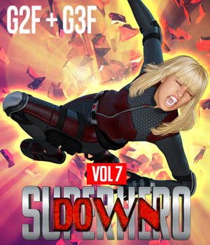 SuperHero Down for G2F and G3F Volume 7 3D Figure Assets GriffinFX