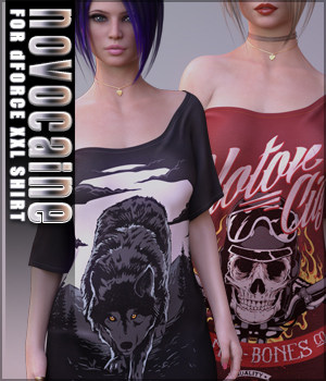 Novocaine for dForce XXL Shirt 3D Figure Assets Sveva