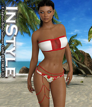 InStyle - X-Fashion Boho Summer Outfit 3D Figure Assets -Valkyrie-