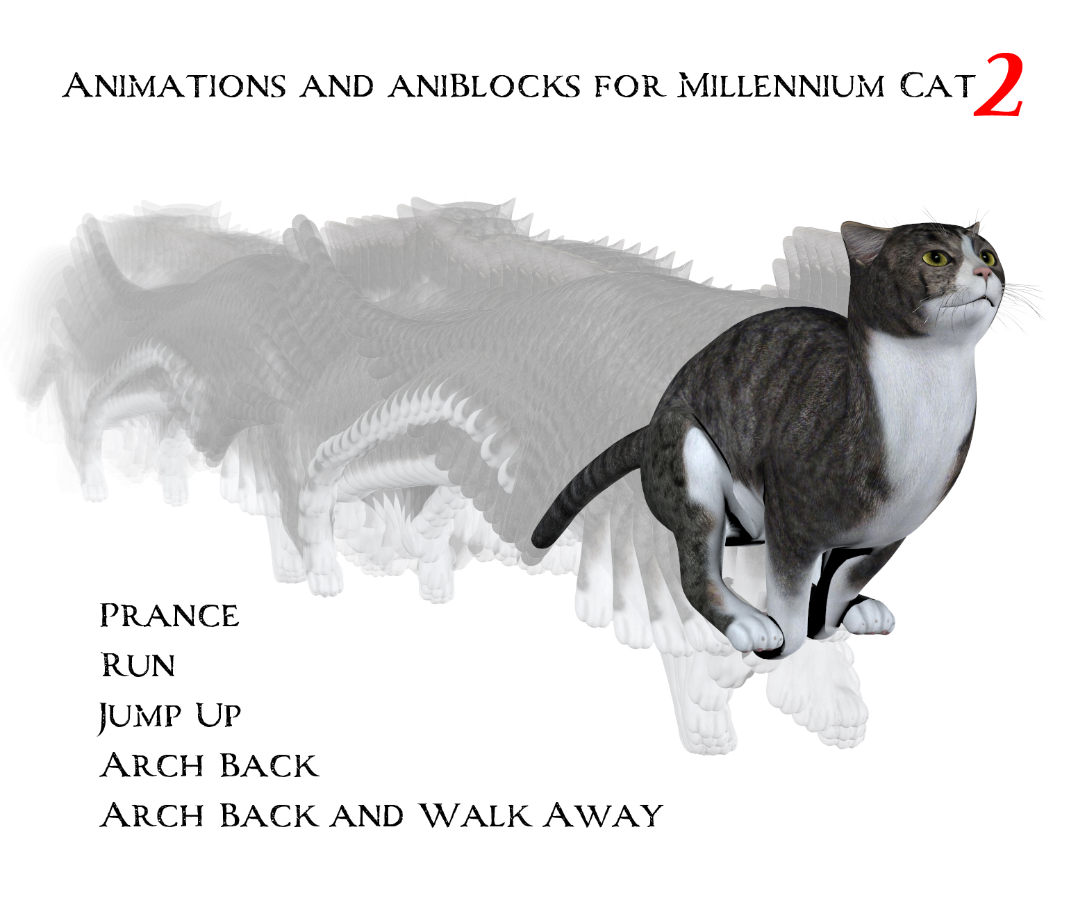 Animations and aniBlocks for Millennium Cat 2 by anniemation
