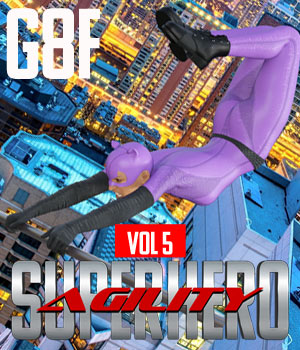 SuperHero Agility for G8F Volume 5 3D Figure Assets GriffinFX