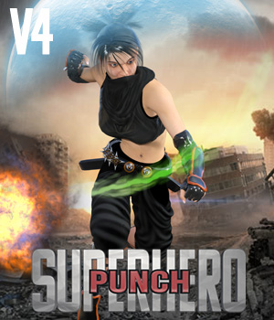 SuperHero Punch for V4 Volume 1 3D Figure Assets GriffinFX