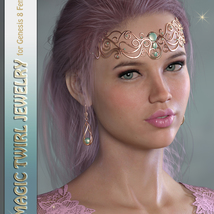 GDN Magic Twirl Jewelry for Genesis 8 Females image 1