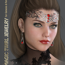 GDN Magic Twirl Jewelry for Genesis 8 Females image 3