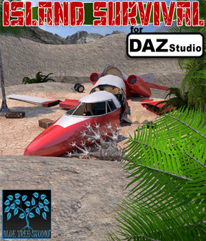 Island Survival for Daz Studio 3D Models BlueTreeStudio